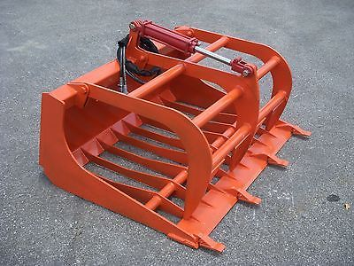 Kubota Compact Tractor Loader Attachment 48 Rock Bucket Grapple Free Ship Tractor Accessories Tractor Attachments Tractor Loader