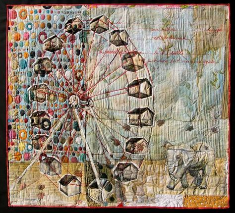 mixed media ferris wheel+elephant