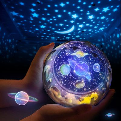 Rotating LED Light Projector Star Moon Sky Baby Kids Night Mood Lamp Gift Magic