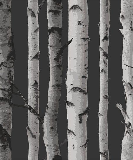 Wallpops Distinctive Black Birch Tree Wallpaper Zulily Birch