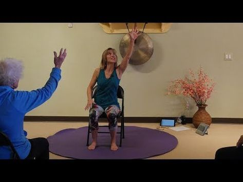 Catch A Falling Star Chair Yoga Dance With Sherry Zak Morris C Iayt Youtube Chair Yoga Yoga Dance Yoga For Kids