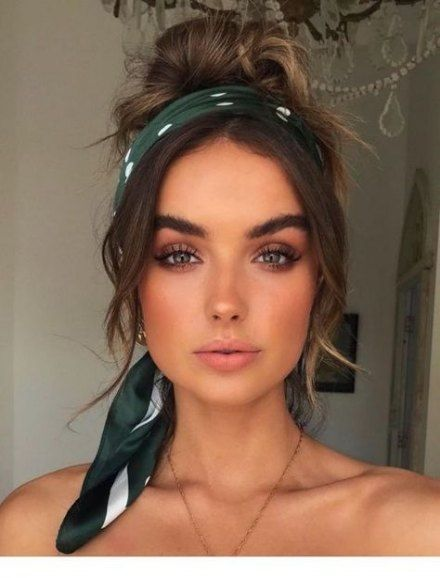 Trendy Hair Color Ideas For Brunettes Green Eyes Hairstyles Ideas Hair Hairstyles In 2020 Bandana Hairstyles Short Headband Hairstyles Scarf Hairstyles