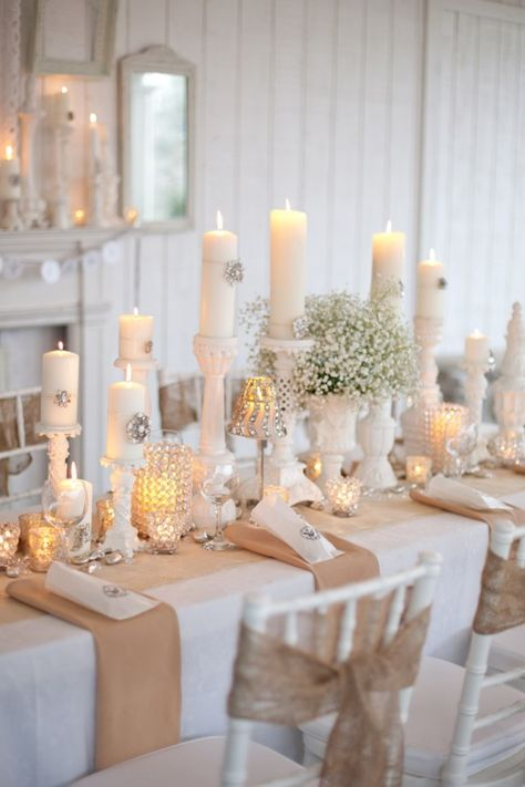 Burlap Party Decor | ... Country Wedding Decorations , Rustic Country Wedding Inspiration