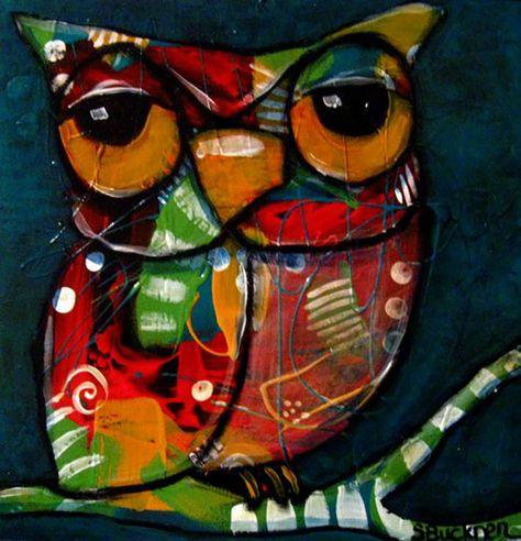 Сова расписная 'Owl' by Suzan Buckner