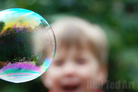 Nothing brightens up a gloomy and cold day stuck indoors, as BUBBLE FUN does. Make your easy bubble recipe and then have some fun and lighten everyone up!!