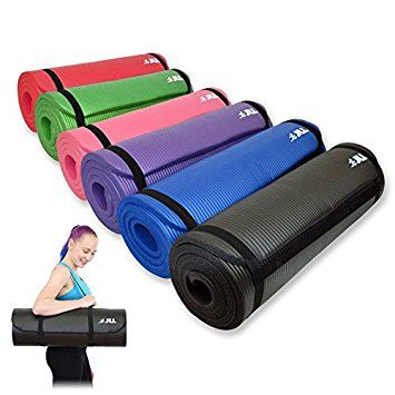 Jll Yoga Mat Extra Thick 15mm Non Slip Pilates Workout Black Pilates Workout Mat Exercises Yoga Mat
