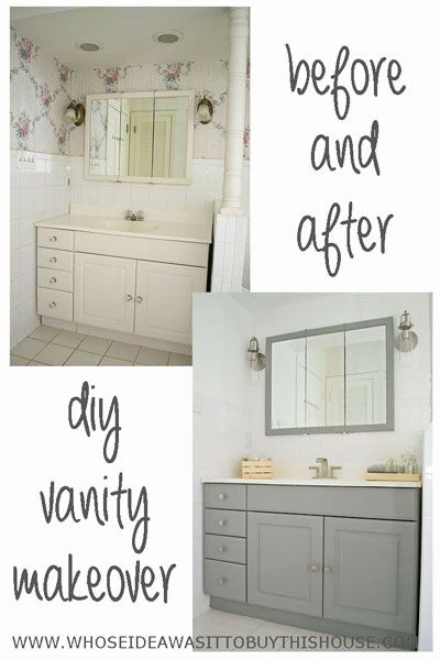 Bathroom Vanity Makeover Ideas Beautiful How To Transform A Dingy Old Laminate Vanity Wit In 2020 Bathroom Vanity Makeover Vanity Makeover Diy Bathroom Vanity Makeover