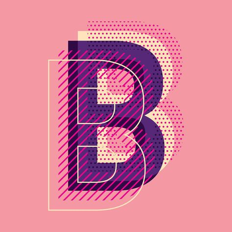 Download letter B typography for free