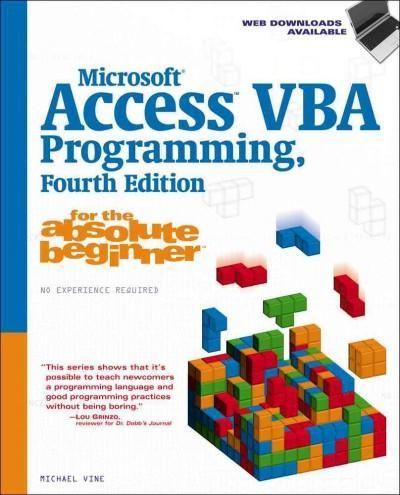 Microsoft Access VBA Programming for the Absolute Beginner - vba programmer sample resume