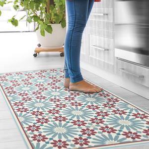 Vinyl tiles floor mat Choose your mat color. Linoleum rug   Etsy