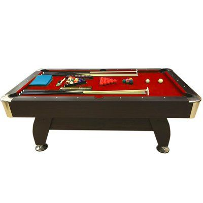 Simba USA Billiard 8u0027 Pool Table Felt Color: Red