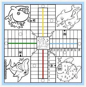 Minihogarkids Juegos Parchis De Peces Para Colorear Parchis Juegos Para Ninos Pequenos Fichas