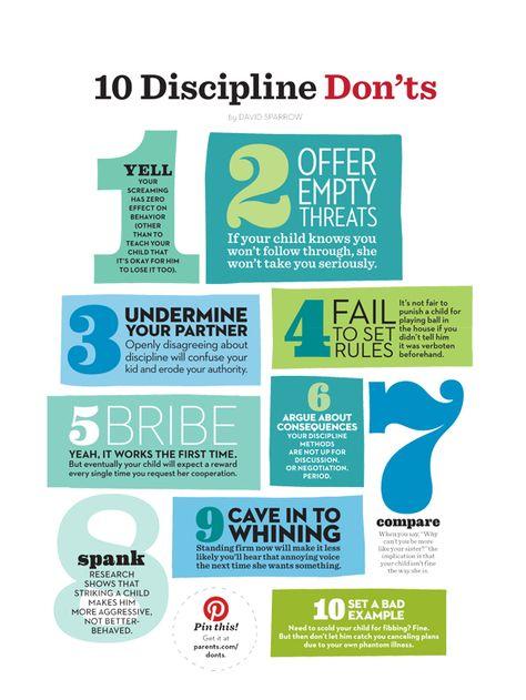 10 tactics to avoid when disciplining your kids.