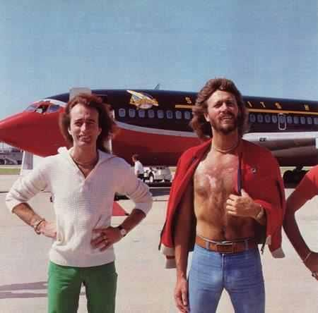 robin and barry. spirits flown airplane