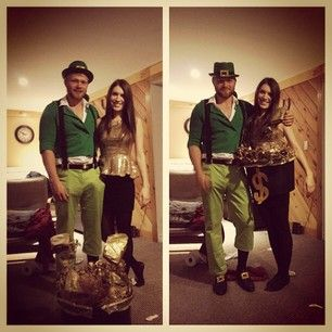 Leprechaun and his pot of gold. | 50 Couple Costume Ideas To Steal This Halloween
