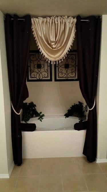 Ahh Luxury Bathrooms Pictures Pinterest Elegant Shower Curtains Restroom Decor Bathroom Decor