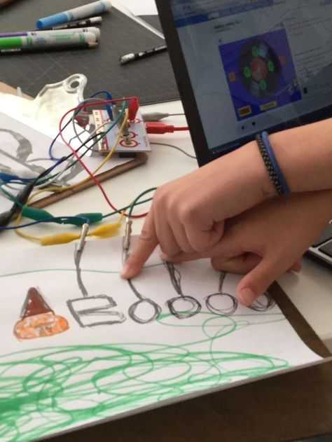 Mini Makers Create MakeyMakey Musical Drawing Circuits