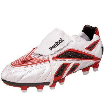 bc5fcac91 Reebok Men's Valde Pro Hard Ground Soccer Cleat,White/Black/Red,9 M Reebok.  $65.98
