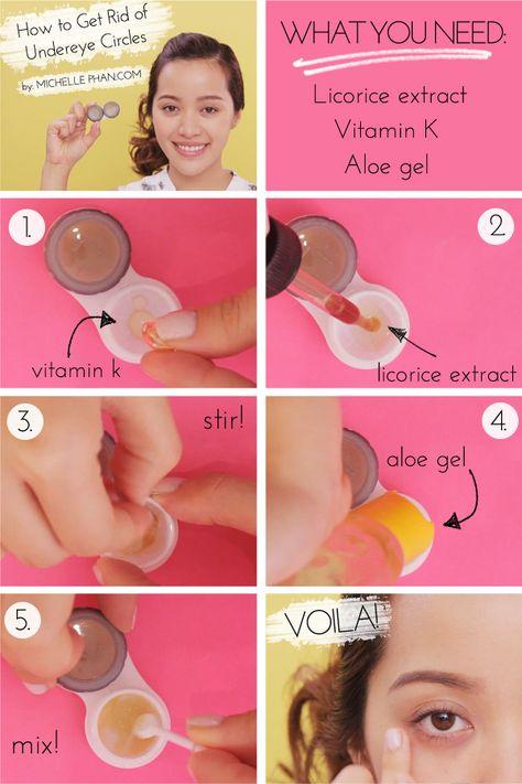 diy how to get rid of under-eye circles!