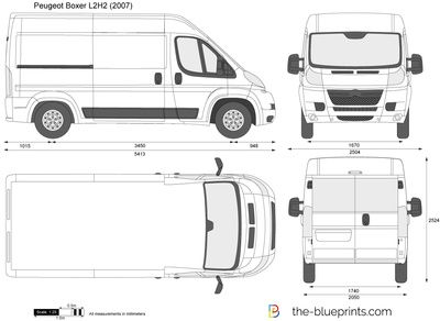 Peugeot Boxer L2h2 Lxbxh 5413mm 2050mm 2524mm Citroen Jumper Citroen Fiat Ducato