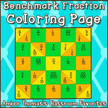 ... benchmark fraction to compare and order #fractions. Makes a nice quilt
