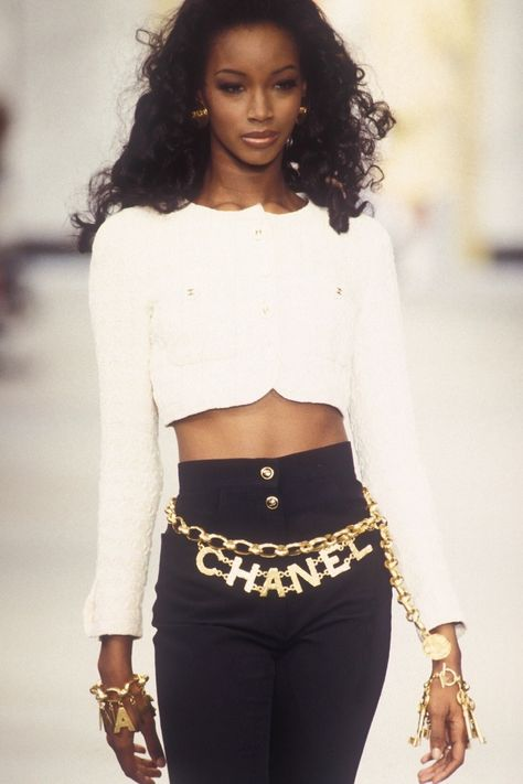 "a-state-of-bliss: ""Beverly Peele @ Chanel Spr/Sum 1993 """