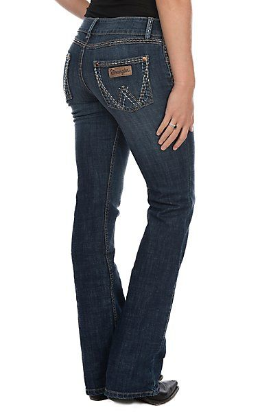 a7d109ad504 Wrangler Women's Sadie Low Rise Retro Boot Cut Jeans | Cavender's
