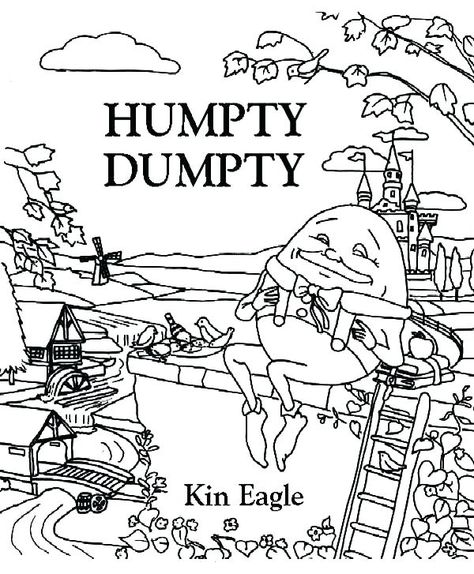 600x727 Humpty Dumpty Coloring Coloring Page Coloring Page
