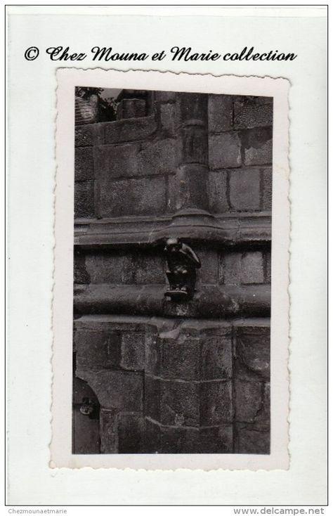 1936 - BELGIQUE - MONS - HOTEL DE VILLE - UNE GARGOUILLE - PHOTO 11 X 7 CM