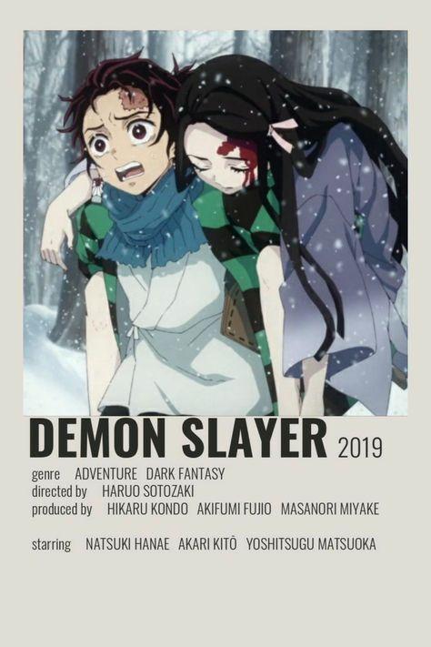 Poster Minimalist Demon Slayer