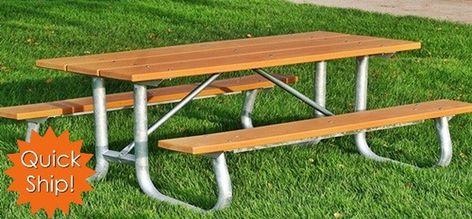 Marvelous Heavy Duty Galvanized Frame Table Picnic Table Table Customarchery Wood Chair Design Ideas Customarcherynet