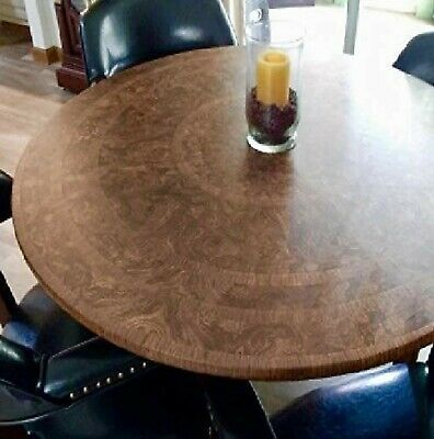 Table Cloth Round Elastic Edge Fitted Vinyl Table Cover Fits
