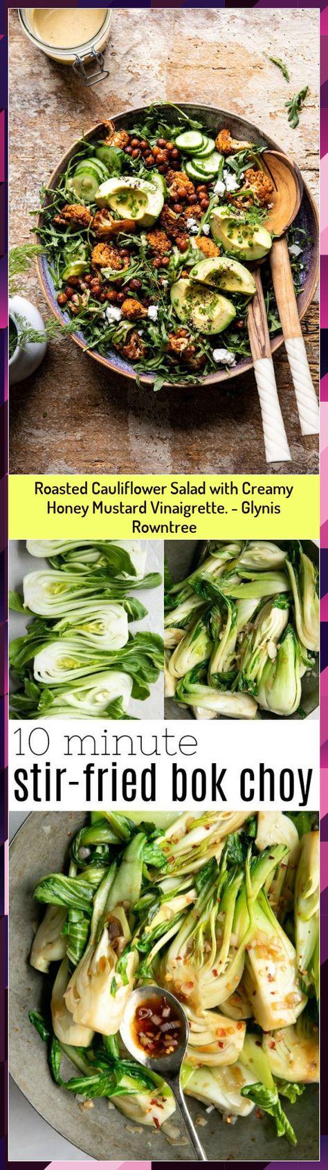 Roasted Cauliflower Salad with Creamy Honey Mustard Vinaigrette. - Glynis Rowntree #Cauliflower #Creamy #Glynis #Honey #Mustard #Roasted #Rowntree #Salad #Vinaigrette