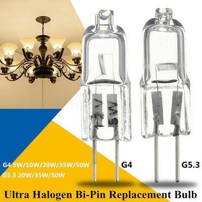 Sponsored Link 10 20x Halogen Light Bulb Lamp G4 G5 3 Base Bi Pin