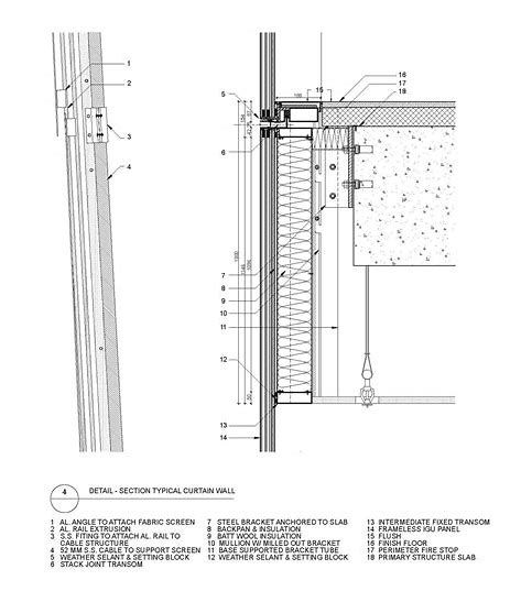 Image Result For Curtain Wall Section Detail Kiến Truc Kiến