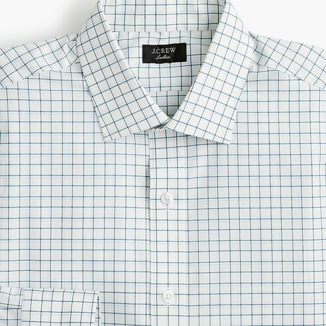 aa3a8868c2681 Ludlow Slim-Fit Stretch Two-Ply Easy-Care Cotton Dress Shirt In Blue  Tattersall