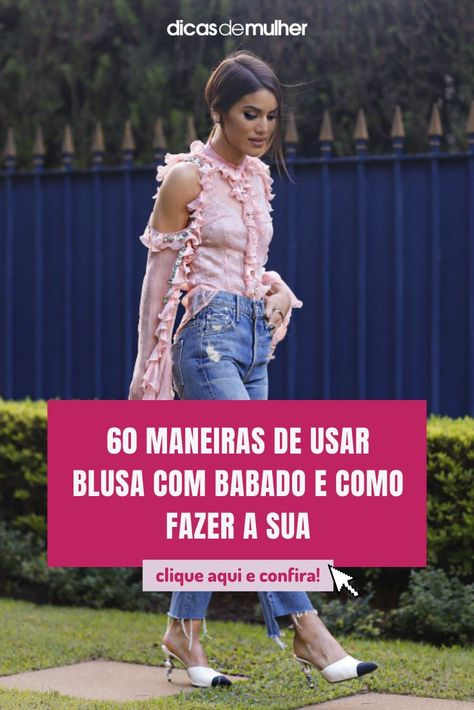 #blusa #babado #look #moda #roupascombabados #dicademoda #tutoriais | 📸. Camila Coelho