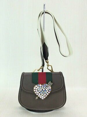 Second Hand Gucci Crystal Pierced Heart Sherry Line Totem Shoulder Bag Fashion Clothing Shoes Accessories Women Bag In 2020 Shoulder Bag Waist Bag Leather Bags
