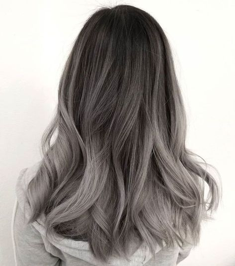 Dark Brown To Ashy Gray Ombre