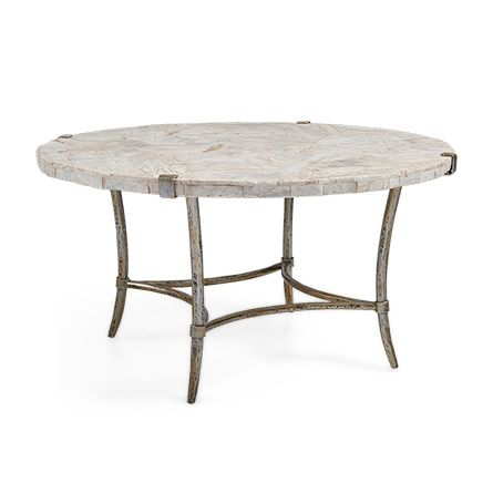 Boracay 36 Coffee Table With Marble Top In Platinum With Images