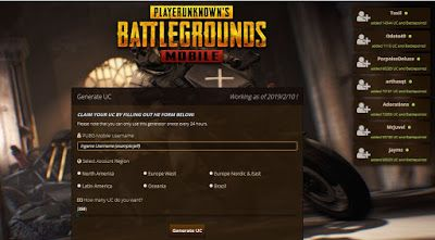 PUBG Mobile Free UC Generator 2019 Free Access Here | places to