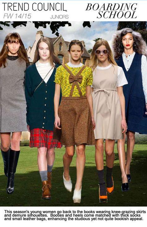 F/W 2014-15, juniors contemporary trend themes, boarding school