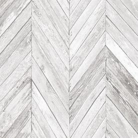 Graham Brown Strata 56 Sq Ft Grey Vinyl Textured Wood Unpasted Wallpaper Lowes Com Herringbone Wallpaper Grey Wallpaper Grey Removable Wallpaper