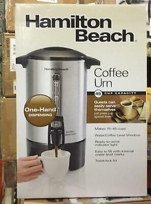 45 Cup Stainless Steel Coffee Urn With One Handed Dispensing By In 2020 Coffee Urn Coffee Maker Stainless Steel Coffee