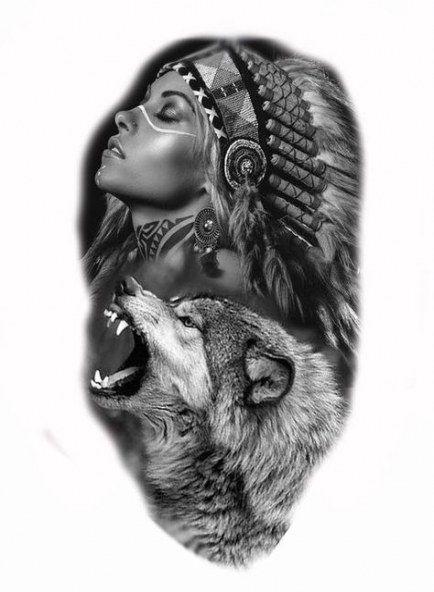 Super Tattoo Wolf Sleeve Native American 46 Ideas Native American Tattoos Indian Tattoo Native Tattoos