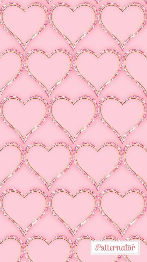 Pink Sparkly Bling HeartsWallpaper -  - #Bling #HeartsWallpaper #pink #Sparkly