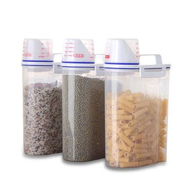 Kitchen Dining Bar Plastic Container Storage Grain Cereal Storage Containers