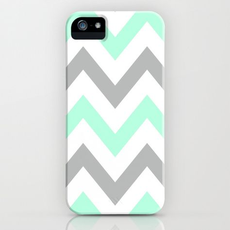 MINT & GRAY CHEVRON iPhone Case! I want it!!!!...... When I get an iPhone....