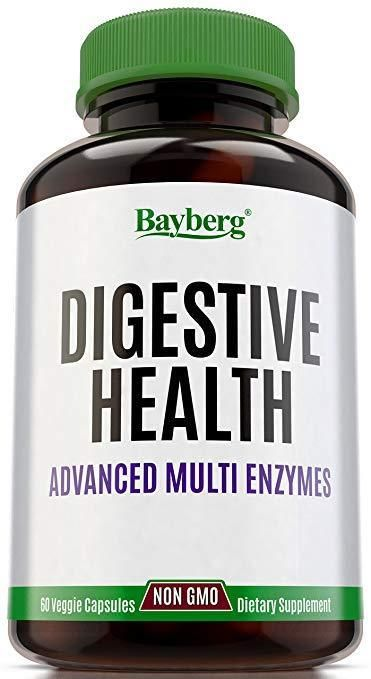 Bayberg Digestive Health Advanced Multi Enzymes Bloating Toxin Gas Relief 60 Ct Bayberg Antioxidant Supplements Stress Relief Vitamins Health Supplements