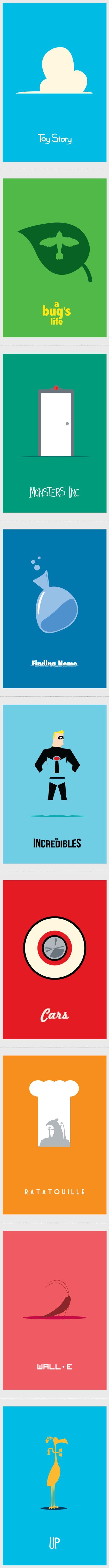 Pixar Minimalist Movie Posters